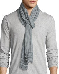 John Varvatos Lightweight Border Striped Scarf Fossil