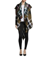 Collection 18 Plaid Blanket Scarf Green