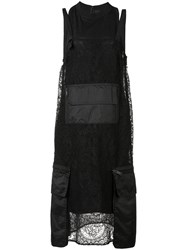 Vera Wang Pocket Detailed Dress Black
