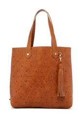 Steve Madden Hole Punch Tote Brown