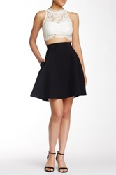 Abs By Allen Schwartz Half Circle Scuba Skirt Black