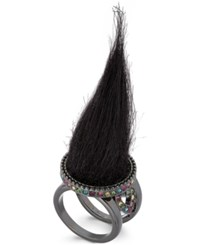 Betsey Johnson Xox Trolls Faux Fur Ring Only At Macy's Black