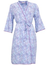 Cyberjammies Elsie Spot Print Dressing Gown Blue Purple