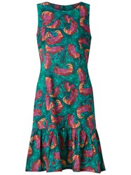 Isolda Abstract Print Sleeveless Dress