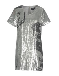 Andy Warhol By Pepe Jeans Short Dresses Silver