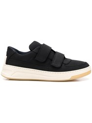 Acne Studios Perey Touch Strap Sneakers Black