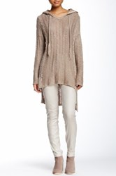 Loveriche Hooded Knit Sweater Brown