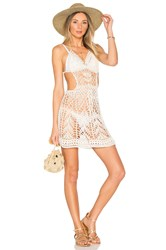 Indah Poppy Mini Dress Ivory