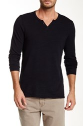 Joe's Jeans Wintz Long Sleeve Henley Blue