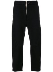 Cedric Jacquemyn Cropped Trousers Black