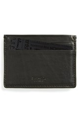 Shinola Leather Card Case Black