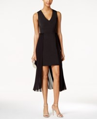 Rachel Roy High Low Chiffon Sheath Dress Black