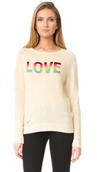 Zadig And Voltaire Baily Bis Cashmere Sweater Ecru