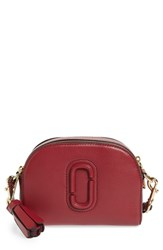 Marc Jacobs 'Small Shutter' Leather Camera Bag Red Deep Maroon