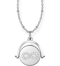 Thomas Sabo Infinity Coin Spinning 18Ct Rose Gold Sterling Silver And Diamond Necklace