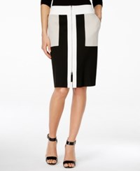 Inc International Concepts Zip Front Colorblocked Skirt Only At Macy's