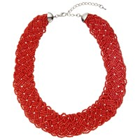 John Lewis Seed Bead Necklace Coral