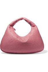 Bottega Veneta Large Intrecciato Leather Shoulder Bag Pink