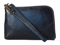 Frye Melissa Wristlet Navy Antique Pull Up Wristlet Handbags Blue