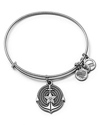 Alex And Ani Anchor Expandable Wire Bangle Rafaelian Silver