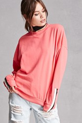 Forever 21 Private Academy Zip Sweatshirt Neon Pink