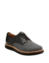 Clarks Glick Darby Dual Textured Oxfords Grey