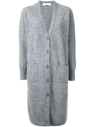 Le Ciel Bleu 'Ferret' Long Cardigan Grey