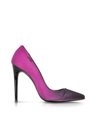 Loriblu Fuchsia Fluo Shades On Calf Hair Pump