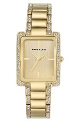 Anne Klein Women's Crystal Bracelet Watch 28Mm X 35Mm