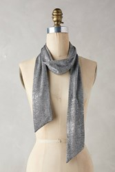Anthropologie Glistened Skinny Scarf Silver