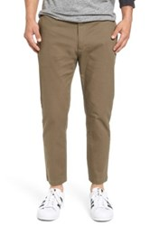 Rvca Hitcher Tapered Fit Cropped Pant Green