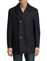 Lauren Ralph Lauren Wool Blend Peacoat Charcoal