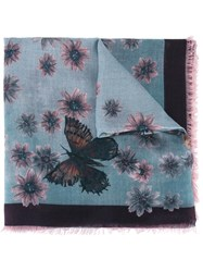 Valentino Garavani Butterfly And Floral Print Scarf