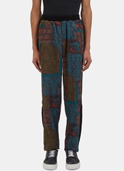 James Long Paisley Print Jogger Pants Green