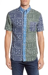 Reyn Spooner Lahaina Colorblock Regular Fit Sport Shirt Blue