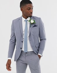 Selected Homme Slim Fit Suit Jacket In Light Blue