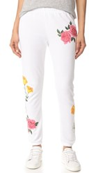 Wildfox Couture Meadow Flowers Sweatpants Clean White