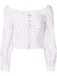 Jovonna Siven Dotted Blouse White