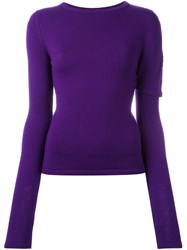Jacquemus Round Neck Jumper Pink Purple