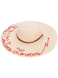 Forte Couture Lovers Hat Women Paper One Size Nude Neutrals