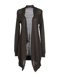 Gold Case Knitwear Cardigans Women Dark Brown