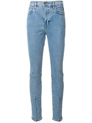 Levi's Made And Crafted Zip Cuff Skinny Jeans Women Cotton Polyester Spandex Elastane 30 Blue
