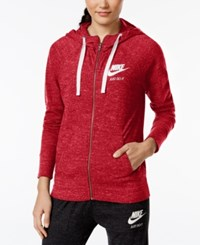 Nike Gym Vintage Full Zip Hoodie University Red