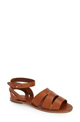 Tommy Bahama 'Petrinna' Ankle Strap Sandal Women Brandy Leather