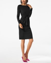 Inc International Concepts I.N.C. Tie Waist Dress Created For Macy's Black