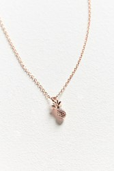 Urban Outfitters Pineapple Charm Necklace Rose
