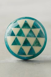 Anthropologie Tilly Inlay Knob Blue