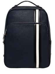 Bally Pebbled Leather Backpack W Stripes