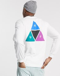 Huf Prism Triple Triangle T Shirt In White