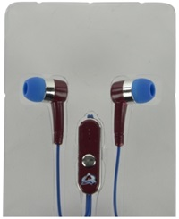 Mizco Colorado Avalanche Earbuds Team Color